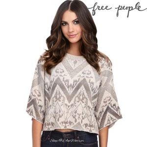 Free People cropped geo print sweater